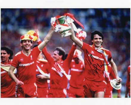 Alan Hansen, Liverpool & Scotland, signed 10x8 inch photo.
